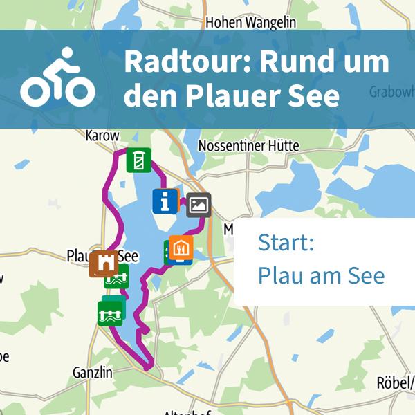 Radtour: Rund um den Plauer See